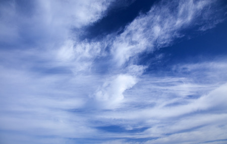 natural background of sky and wispy cirrus clouds