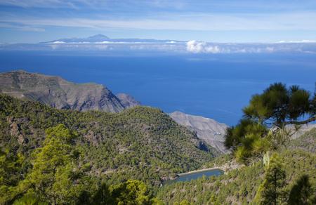 Gran Canaria, December, view west from nature Park Tamadaba