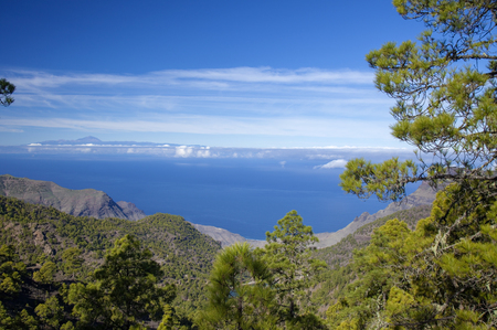 Gran Canaria, December, view west from nature Park Tamadaba Stock Photo