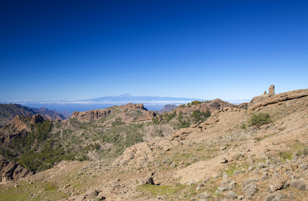 Gran Canaria, December, veiw from Las Cumbres towards Teide on Tenerife