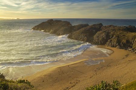 Coast of Cantabria,  landscape along Costa Quebrada, The Broken Coast, December