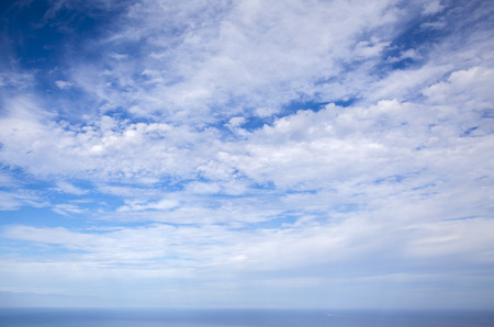 cloudscape over ocean  natural  background of predominantly sky