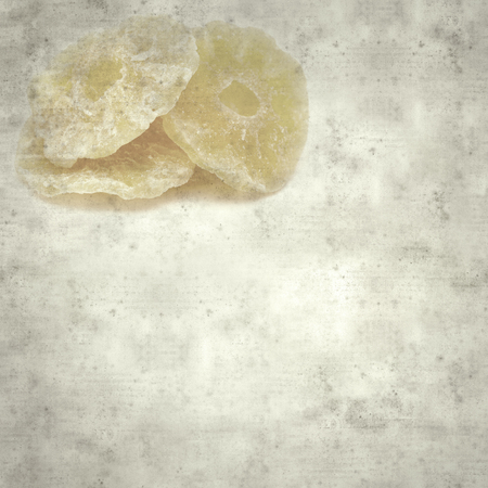 textured stylish old paper background, square with candied fruit
