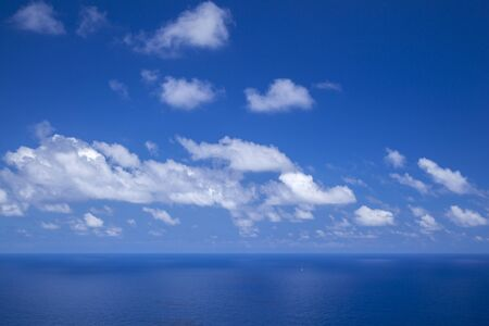 clouds over ocean, natural background of mostly sky