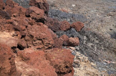 Gran Canaria, La Isleta peninsula, volcanic rock formations by the ocean shore