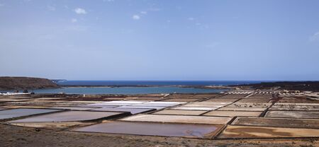 Lanzarote, Canary Islands, salt flats Salinas de Janubio