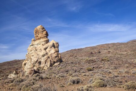 Tenerife, rock formations around Roques Garcia, morning light