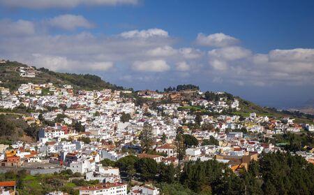 Gran Canaria, December, historic town Teror, famous for its Basilica 版權商用圖片