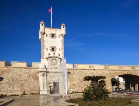 Cadiz city walls,Las Puertas de Tierra, one of the main gates to the city