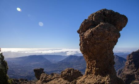 Gran Canaria, January, The Mushroom, one of many interesting rock formation around Pico de las Nieves