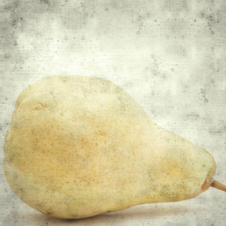 textured stylish old paper background, square, with yellow pear Stok Fotoğraf