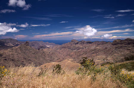 Gran Canaria, landscape of the central part of the island, Las Cumbres, ie The Summits
