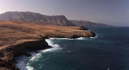 Gran Canaria, steep cliffs of the north coast Sardina del Norte area