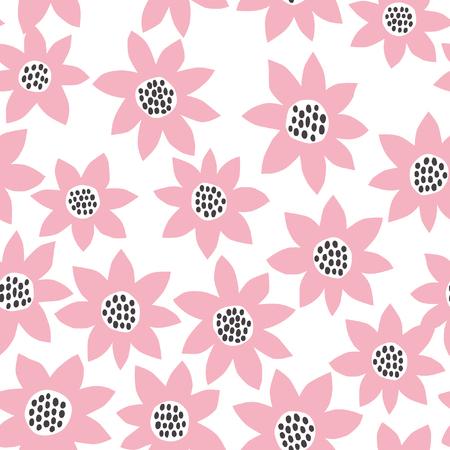 big floral pattern Stock Illustratie