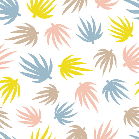 abstract leaves pattern - multicolor Stock Illustratie
