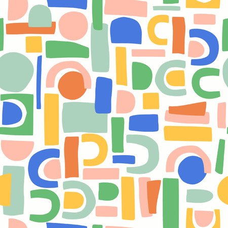 abstract shapes scandinavian pattern