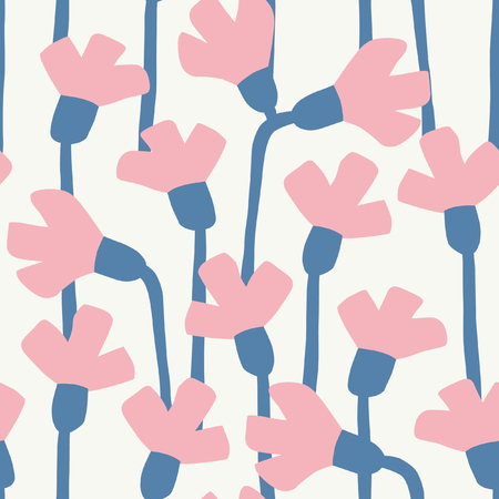abstract flowers scandinavian pattern