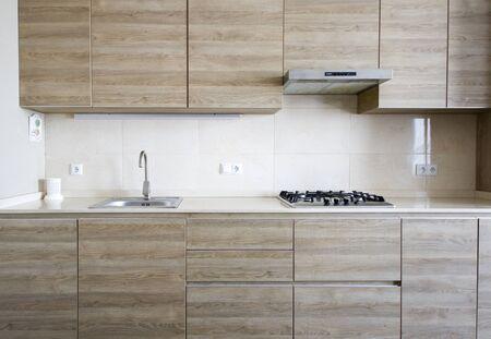 kitchen interior in house, photo, kitchen gas, furniture