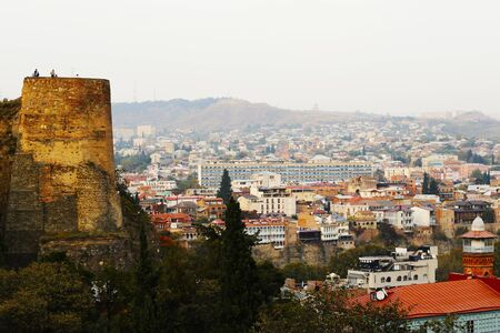 city scape and city view of Tbilisi from Tbilisi botanic garden, Georgia. 版權商用圖片
