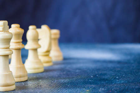Checkmate and chess figures close-up, boardgame