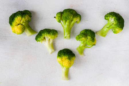 Broccoli vegetable like a tree, broccoli forests on the white background, high angle view Banque d'images