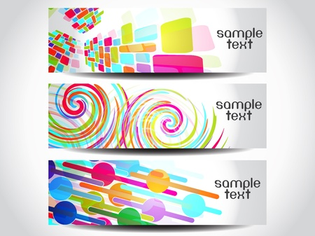 Abstract vector banner or header set  Stock Vector - 11550242