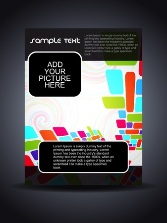 Presentation of creative flyer or cover design Vector