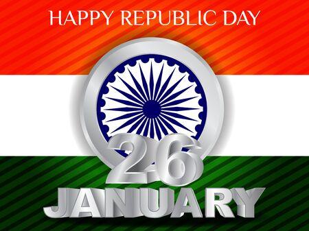 india 3d: elegent background for Republic Day. Illustration
