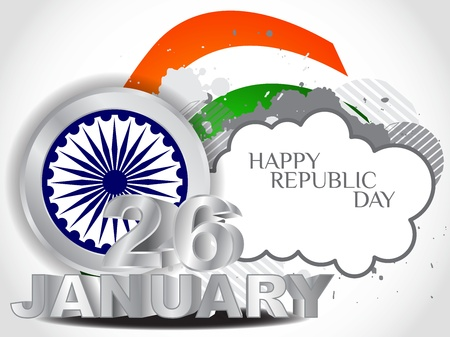 india 3d: creative background for Republic Day.