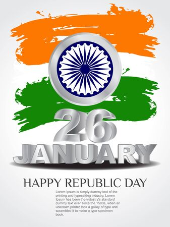 wave tourist: creative background for Republic Day.