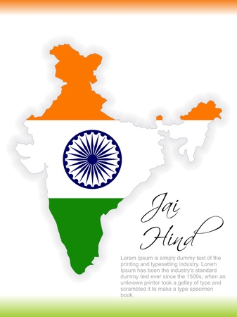 map of india: Elegent background for Independence Day and Republic Day. Illustration