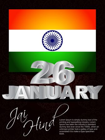 Elegent background for Republic Day, 26 january. Vector