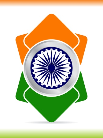 Creative icon design for Republic day and Independence Day.  illustration Vector
