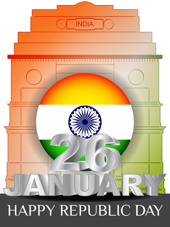 Creative background for republic Day, 26 january. Vector