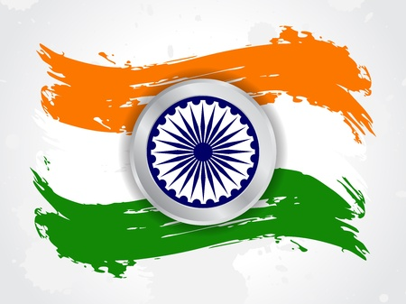 indian flag: Creative background for Republic day and Independence Day.  illustration Illustration