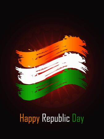 map of india: Creative background for Republic Day. Illustration