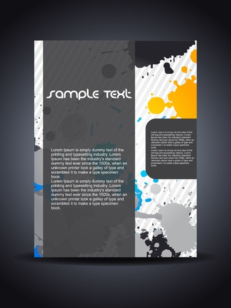 Presentation of creative flyer or cover design. illustration Vector