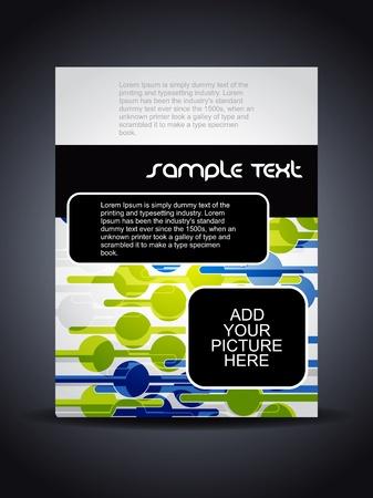 Presentation of creative flyer or cover design. illustration