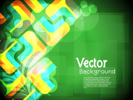 Creative abstract glowing background with colorful squares. Vector Illustration