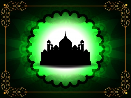 abstract colorful eid background with mosque. Stock Vector - 15352738