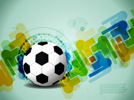 creative football background with colorful modern design  Vector illustration