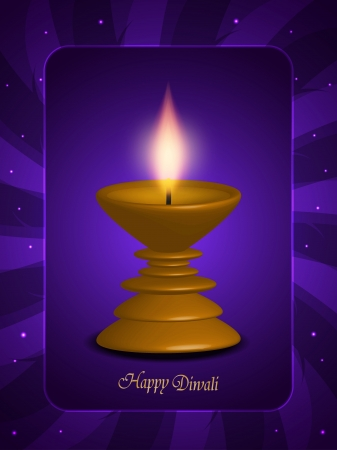 religious background design with beautiful lamp for diwali festival  Stock Vector - 16135756