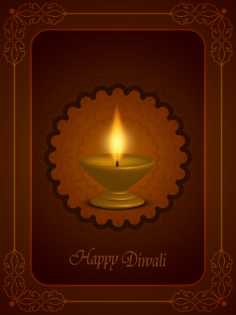 abstract religious background with beautiful lamp for diwali festival  Vector