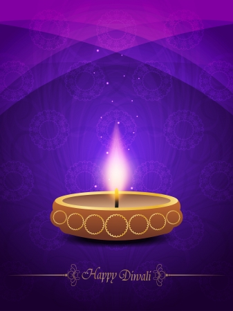 colorful religious background with beautiful lamp for diwali festival  Vector
