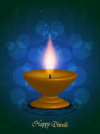 abstract religious background design with beautiful lamp for diwali festival  Vector