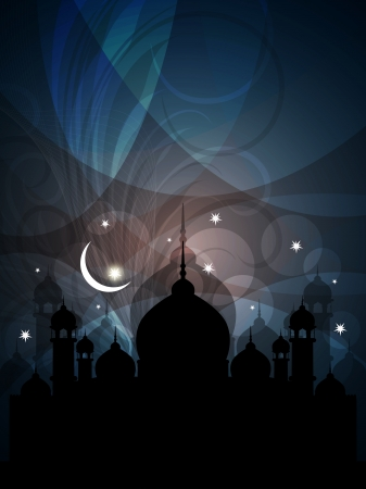 abstract colorful eid background with mosque  Stock Vector - 16135767