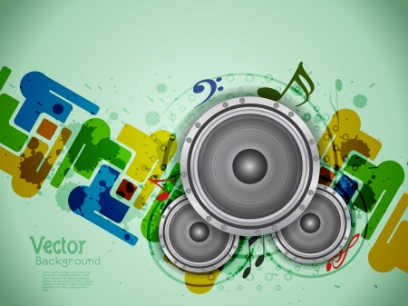 abstract music theme background with loudspeakers. Vector