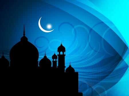 ramadan mubarak card: abstract religious eid background. Vector illustration