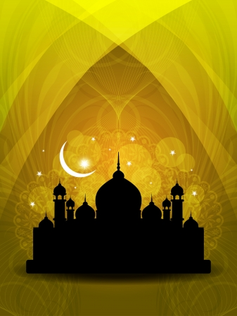 islam moon: abstract religious eid background.