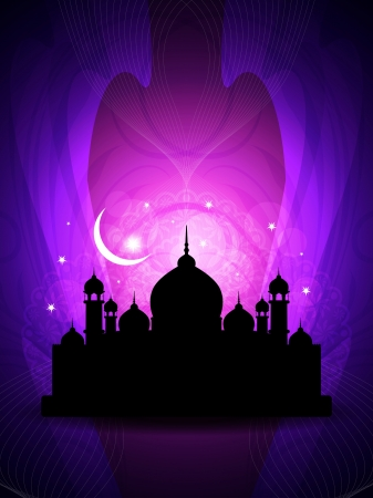 abstract colorful eid background with mosque. Stock Vector - 16243004
